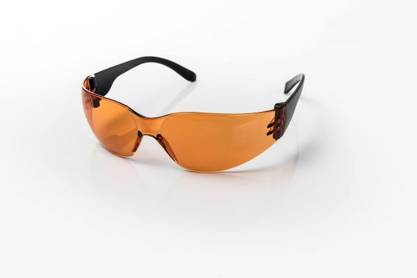 eye shield junior red – Orangene Lichtschutzbrille